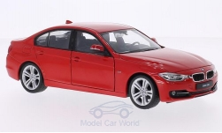 Modelcar - <strong>BMW</strong> 335i (F30), red, without showcase<br /><br />Welly, 1:24<br />No. 194632