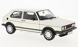 Modelo de coche - <strong>VW</strong> Golf I GTI, blanco, 1982<br /><br />Welly, 1:18<br />Nº 195341