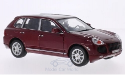 ModelCar - <strong>Porsche</strong> Cayenne Turbo, dunkelrot<br /><br />Welly, 1:24<br />No. 195384