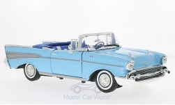 Modelcar - <strong>Chevrolet</strong> Bel Air Convertible, light blue, 1957<br /><br />Motormax, 1:18<br />No. 196280