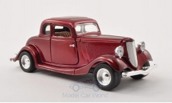 ModelCar - <strong>Ford</strong> Coupe (Hardtop), metallic-dunkelrot, 1934<br /><br />Motormax, 1:24<br />No. 196303