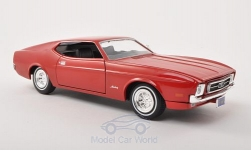 ModelCar - <strong>Ford</strong> Mustang Sportsroof, rot ohne Vitrine, 1971<br /><br />Motormax, 1:24<br />No. 196340