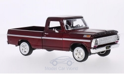 Modellauto - <strong>Ford</strong> F-100, metallic-dunkelrot, 1969<br /><br />Motormax, 1:24<br />Nr. 196364