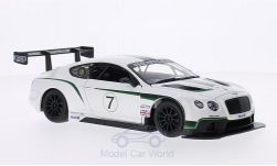 Modelcar - <strong>Bentley</strong> Continental GT3, white/black, RHD, No.7<br /><br />Bburago, 1:24<br />No. 196807