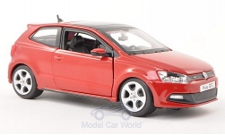 Modelcar - <strong>VW</strong> Polo V GTI M5, red, without showcase<br /><br />Bburago, 1:24<br />No. 196830