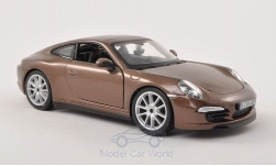 Modelcar - <strong>Porsche</strong> 911 (991) Carrera S, metallic-brown<br /><br />Bburago, 1:24<br />No. 197171