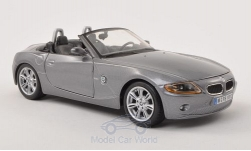 Modelcar - <strong>BMW</strong> Z4, metallic-grey, canopy open<br /><br />Bburago, 1:24<br />No. 197183