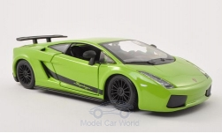 Modelcar - <strong>Lamborghini</strong> Gallardo Superleggera, light green, 2003<br /><br />Bburago, 1:24<br />No. 197187