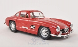 Modelcar - <strong>Mercedes</strong> 300 SL (W198), red, 1954<br /><br />Bburago, 1:24<br />No. 197191