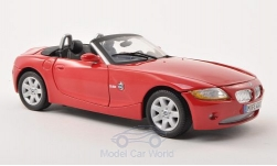 Modelcar - <strong>BMW</strong> Z4 (E85), red, 2008<br /><br />Motormax, 1:18<br />No. 197256