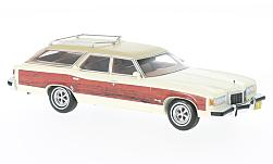 Modelcar - <strong>Pontiac</strong> Grand Safari white/wood optics, 1976<br /><br />Neo, 1:43<br />No. 198286