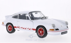 Modellauto - <strong>Porsche</strong> 911 Carrera RS, weiss/rot, 1973<br /><br />Welly, 1:18<br />Nr. 198366