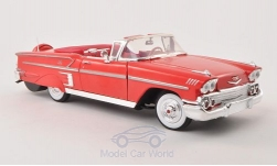 Modelcar - <strong>Chevrolet</strong> Impala Convertible, red, 1958<br /><br />Motormax, 1:18<br />No. 198508