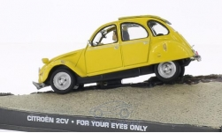 ModelCar - <strong>Citroen</strong> 2CV6, gelb, James Bond 007, In tödlicher Mission, ohne Vitrine<br /><br />SpecialC.-007, 1:43<br />Nr. 200091