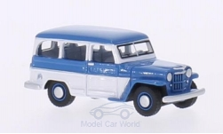Modellauto - <strong>Jeep</strong> Willys Station Wagon, blau/weiss, 1954<br /><br />BoS-Models, 1:87<br />Nr. 200198