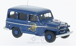 ModelCar - <strong>Jeep</strong> Willys Station Wagon, blau, Michigan State Police, 1954<br /><br />BoS-Models, 1:87<br />番号 200200