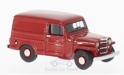 ModelCar - <strong>Jeep</strong> Willys Panel Van, rot, 1954<br /><br />BoS-Models, 1:87<br />番号 200201