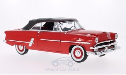 Modelcar - <strong>Ford</strong> Crestline Sunliner, red, canopy closed, 1953<br /><br />Welly, 1:18<br />No. 200630
