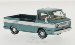 Modellauto - <strong>Chevrolet</strong> Corvair Pick Up, metallic-dunkeltürkis/weiss, 1963<br /><br />Neo, 1:43<br />Nr. 200795