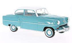 Modelcar - <strong>Opel</strong> Olympia Rekord, turquoise/white, without showcase, 1953<br /><br />BoS-Models, 1:18<br />No. 200862