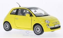 Modelcar - <strong>Fiat</strong> Nuova 500, yellow<br /><br />Motormax, 1:18<br />No. 201946