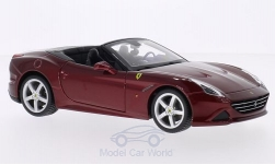 Modelcar - <strong>Ferrari</strong> California T, metallic-dark red, canopy open<br /><br />Bburago, 1:24<br />No. 201981