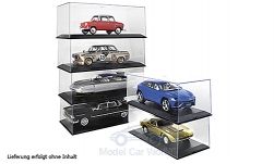Modelcar - <strong>Vitrine</strong> 6x plastic-showcase for each 1 x 1:18, Innenmaße (L/B/H) in mm: 321 / 143 / 102<br /><br />MCG, 1:18<br />No. 202033