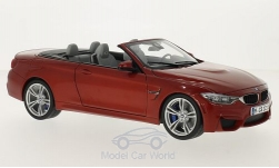 Modelcar - <strong>BMW</strong> M4 (F83) Convertible, metallic-dunkelorange, canopy open<br /><br />Paragon, 1:18<br />No. 202172