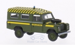 Modellauto - <strong>Land Rover</strong> 109 County Station Wagon, RAF Mountain Rescue (GB), dunkeloliv<br /><br />Brekina Starmada, 1:87<br />Nr. 202185