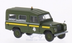 Modellauto - <strong>Land Rover</strong> 109 Provincie Station Wagon, RAF Aircraft Bouwkunde (GB), dunkeloliv<br /><br />Brekina Starmada, 1:87<br />Nr. 202186