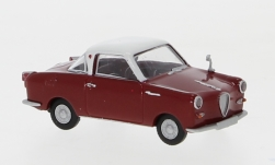 ModelCar - <strong>Goggomobil</strong> Coupe, dunkelrot/weiss<br /><br />Brekina, 1:87<br />No. 202214