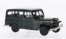 Modellauto - <strong>Willys</strong> Overland Station Wagon-4WD, metallic-dunkelgrün, 1952<br /><br />Brooklin, 1:43<br />Nr. 202524