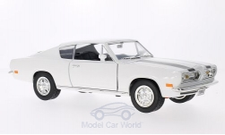 ModelCar - <strong>Plymouth</strong> Barracuda, weiss/schwarz, 1969<br /><br />Lucky Die Cast, 1:18<br />No. 202802