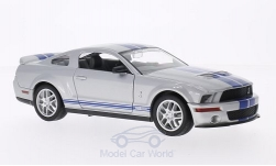 Modellauto - <strong>Shelby</strong> GT500, silber/blau, 2007<br /><br />Lucky Die Cast, 1:24<br />Nr. 202893