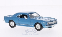 ModelCar - <strong>Chevrolet</strong> Camaro Z-28, metallic-hellblau/weiss, 1967<br /><br />Lucky Die Cast, 1:43<br />No. 202908