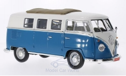 ModelCar - <strong>VW</strong> T1 Microbus mit Faltdach, blau/weiss, 1962<br /><br />Lucky Die Cast, 1:18<br />No. 202936