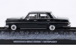 Modellauto - <strong>Mercedes</strong> 250SE (W108), schwarz, James Bond 007, Octopussy, ohne Vitrine<br /><br />SpecialC.-007, 1:43<br />Nr. 203019
