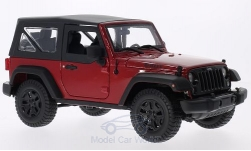 Modelcar - <strong>Jeep</strong> Wrangler red/black, with SoftTop, 2014<br /><br />Maisto, 1:18<br />No. 203355