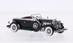 Modellauto - <strong>Duesenberg</strong> Model J Torpedo Convertible Coupe, schwarz/silber, First Class Collection, 1929<br /><br />Minichamps, 1:43<br />Nr. 203990