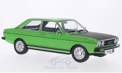 Modelcar - <strong>Audi</strong> 80 GTE, light green/matt-black, doors and hoods are nicht to open, 1975<br /><br />KK-Scale, 1:18<br />No. 204597