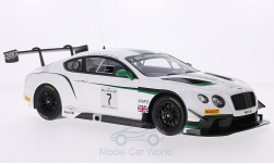 Modellauto - <strong>Bentley</strong> Continentaal GT3, No.7, M-Sport Bentley, Blancpain GT Serie, Silverstone, G.Smith/A.Meyrick/S.Kane, 2014<br /><br />TrueScale Miniatures, 1:18<br />Nr. 204685