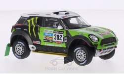 Modelcar - <strong>Mini</strong> All 4 Racing, No.302, Monster, Rallye Dakar, S.Peterhansel/J.P.Cottret, 2013<br /><br />IXO, 1:43<br />No. 205020