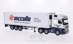 Modellauto - <strong>Mercedes</strong> Actros 2545 (MP4), RHD, McCulla, Kühlkoffersattelzug<br /><br />Corgi, 1:50<br />Nr. 205392