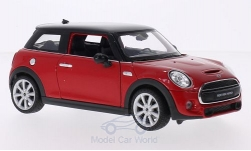 Modellino - <strong>Mini</strong> Cooper S, rosso/nero, 2014<br /><br />Welly, 1:24<br />n. 206321