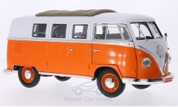 ModelCar - <strong>VW</strong> T1 Microbus, orange/weiss, Faltdach mit Funktion, 1962<br /><br />Lucky Die Cast, 1:18<br />No. 207979