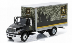 Modellauto - <strong>International</strong> DuraStar Box Van, U.S. Army, Heavy Duty Trucks Series 3<br /><br />Greenlight, 1:64<br />Nr. 208615