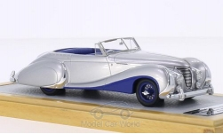 Modellauto - <strong>Talbot Lago</strong> T26 Record Cabriolet Saoutchik, silber/dunkelblau, RHD, sn 100272, 1948<br /><br />Chromes, 1:43<br />Nr. 209285