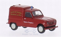 Modelcar - <strong>Renault</strong> R4 Fourgonnette, Sapeurs Pompiers (Fire fighter) Bellrive<br /><br />Brekina, 1:87<br />No. 209457