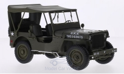 Modelcar - <strong>Jeep</strong> Willys, mattoliv, U.S. Army, closed<br /><br />Welly, 1:18<br />No. 209570
