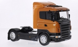 Modelcar - <strong>Scania</strong> R470, metallic-dunkelorange<br /><br />Welly, 1:32<br />No. 209733
